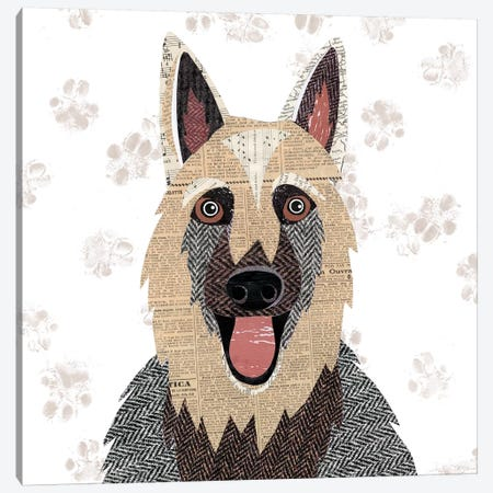 German Sheperd Canvas Print #SIH81} by Simon Hart Canvas Art Print