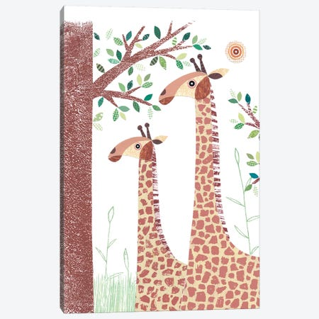 Giraffe 3-Piece Canvas #SIH82} by Simon Hart Canvas Art Print