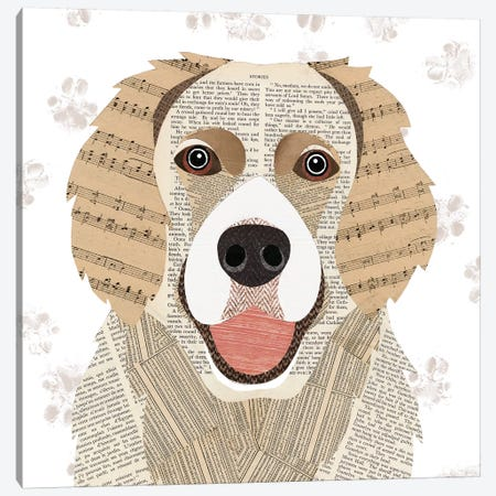 Golden Retriever Canvas Print #SIH84} by Simon Hart Canvas Art
