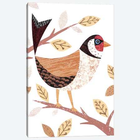 Goldfinch Canvas Print #SIH85} by Simon Hart Canvas Artwork