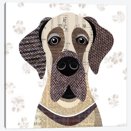 Great Dane Canvas Print #SIH86} by Simon Hart Canvas Artwork