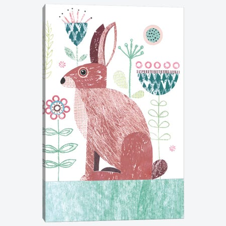 Hare Canvas Print #SIH90} by Simon Hart Canvas Artwork