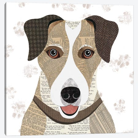 Jack Russell Canvas Print #SIH94} by Simon Hart Canvas Print