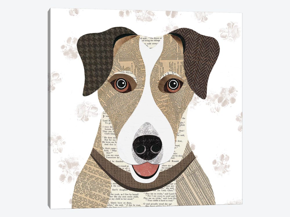 Jack Russell by Simon Hart 1-piece Canvas Art Print