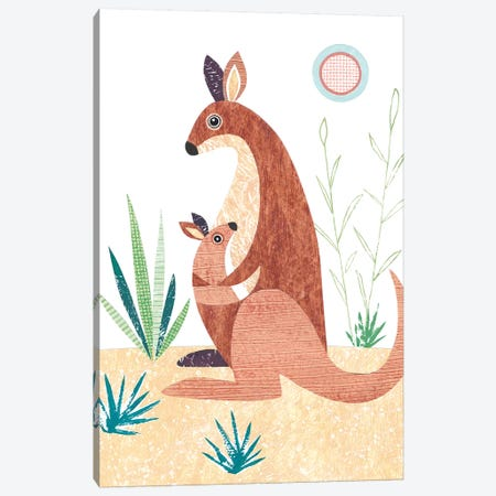 Kangaroo Canvas Print #SIH96} by Simon Hart Art Print