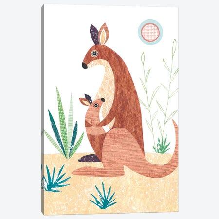 Kangaroo Canvas Print #SIH96} by Simon Hart Art Print