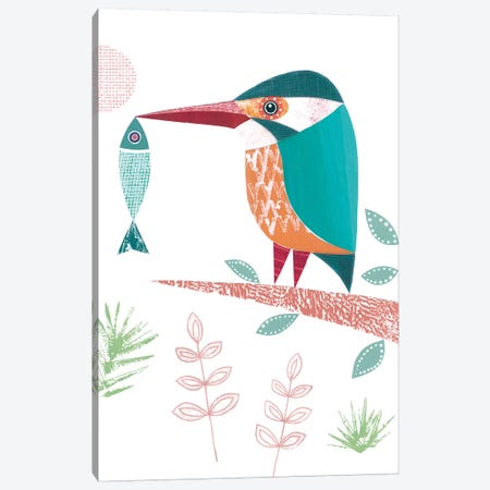 Kingfisher Canvas Print #SIH99} by Simon Hart Canvas Artwork