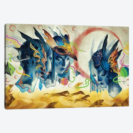 Legend Of Another Mainland Canvas Print #SIJ11} by Sija Hong Canvas Wall Art