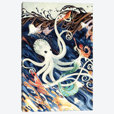 Little Mermaid Canvas Print #SIJ12} by Sija Hong Canvas Artwork