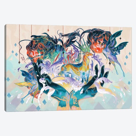 Porcelain Pillows II Canvas Print #SIJ22} by Sija Hong Art Print