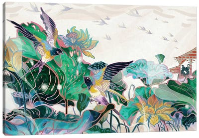 Cowherd And Weaver Canvas Art Print