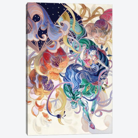 The Whole World Pours Down Canvas Print #SIJ33} by Sija Hong Canvas Artwork