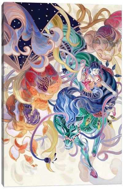 The Whole World Pours Down Canvas Art Print