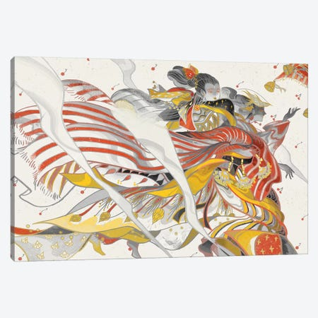 Wind Ladies Canvas Print #SIJ37} by Sija Hong Art Print