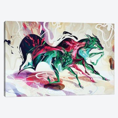 Working Hand In One Glove I Canvas Print #SIJ38} by Sija Hong Canvas Wall Art