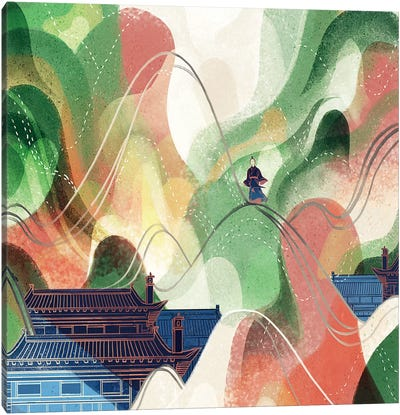 Flowing Mountain Canvas Art Print