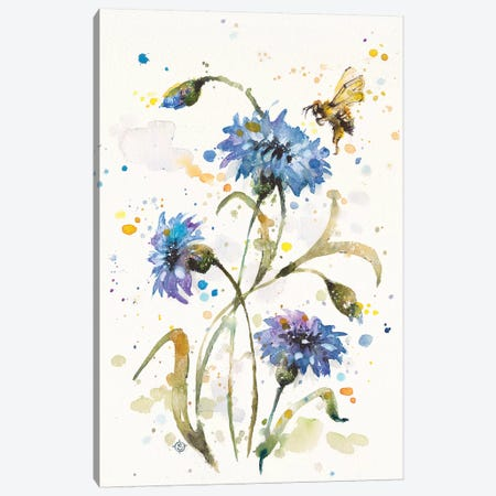 Cornflower Dance Canvas Print #SIL15} by Sillier Than Sally Canvas Art Print