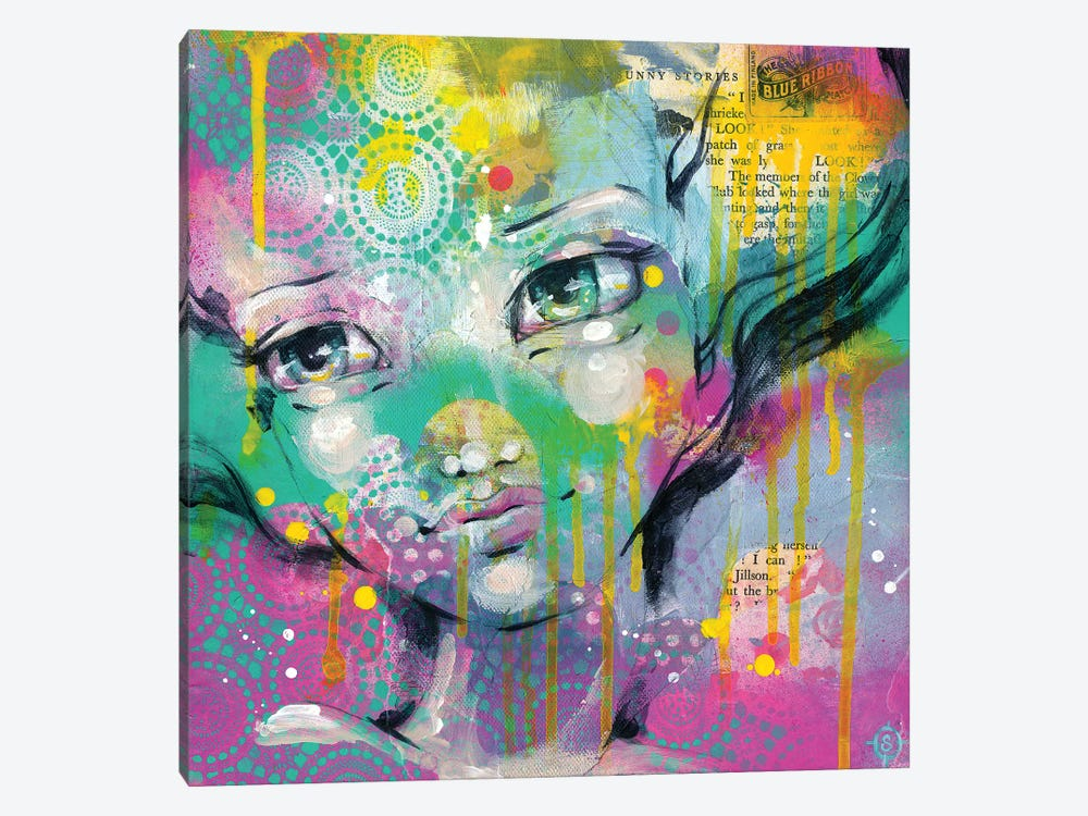 Daydreaming Away by Sillier Than Sally 1-piece Canvas Wall Art