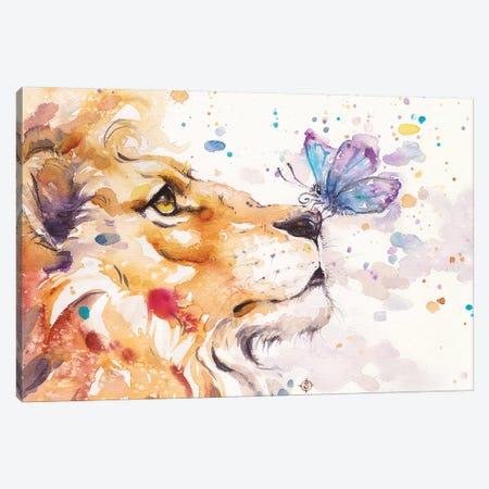 Finn's Lion Canvas Print #SIL19} by Sillier Than Sally Canvas Artwork