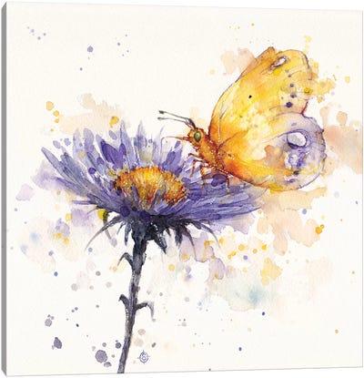 Flowers & Flutters Canvas Art Print
