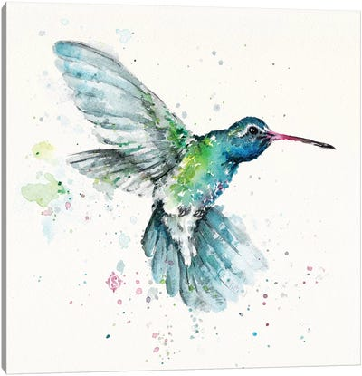 Hummingbirds Flurry Canvas Art Print