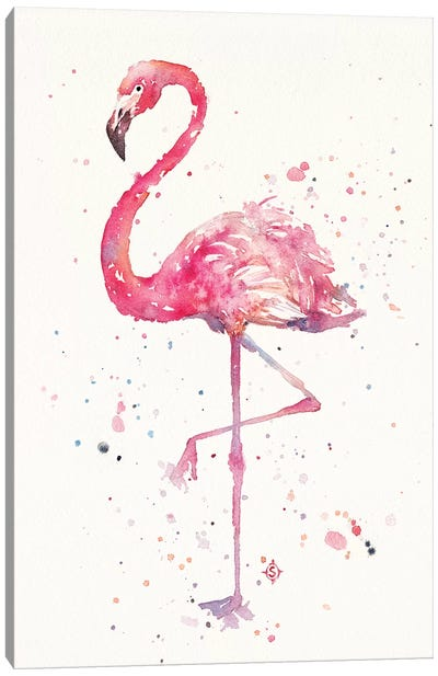 A Flamingos Fancy Canvas Art Print