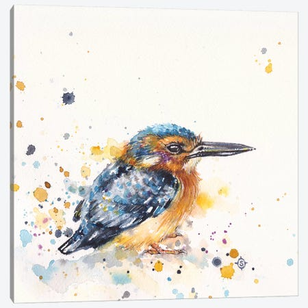 Kingfisher Lane Canvas Print #SIL30} by Sillier Than Sally Canvas Artwork