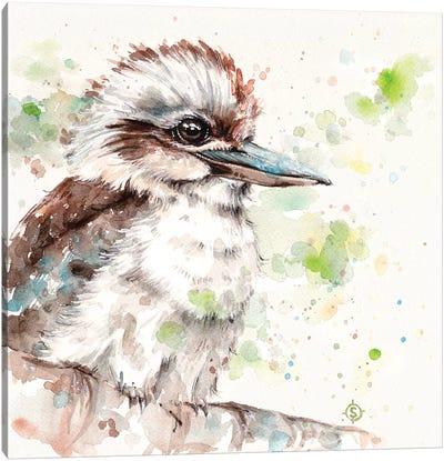 Kookaburra's Gaze Canvas Art Print