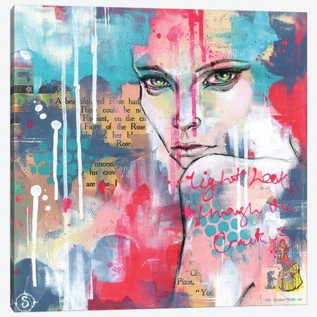 Light Leaks Through The Cracks Canvas Print #SIL33} by Sillier Than Sally Canvas Artwork