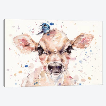 Little Calf Canvas Print #SIL35} by Sillier Than Sally Canvas Art Print