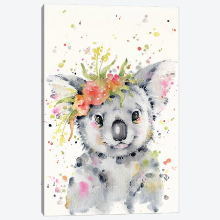 Little Koala Canvas Print #SIL38} by Sillier Than Sally Canvas Wall Art