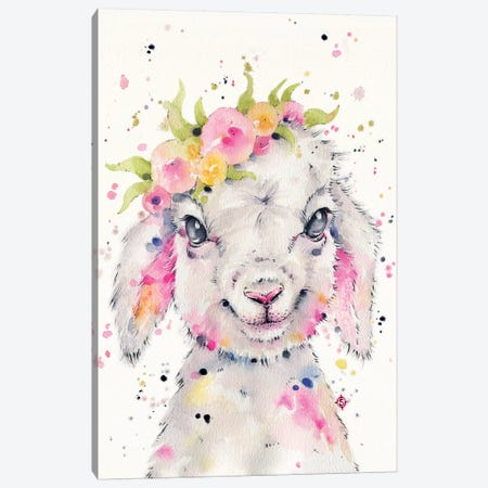 Little Lamb Canvas Print #SIL39} by Sillier Than Sally Canvas Wall Art