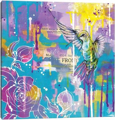 A Hummingbirds Folly Canvas Art Print