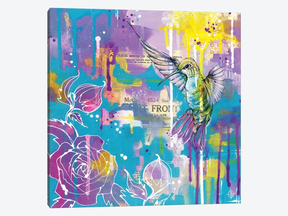 A Hummingbirds Folly by Sillier Than Sally 1-piece Canvas Wall Art