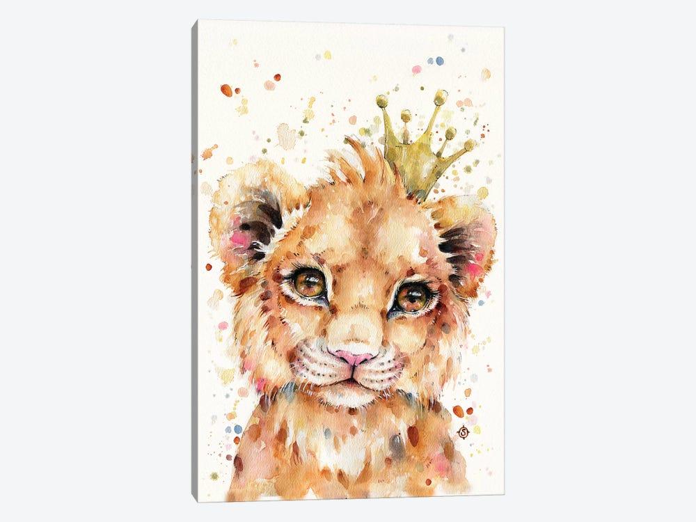 Little Lion by Sillier Than Sally 1-piece Art Print