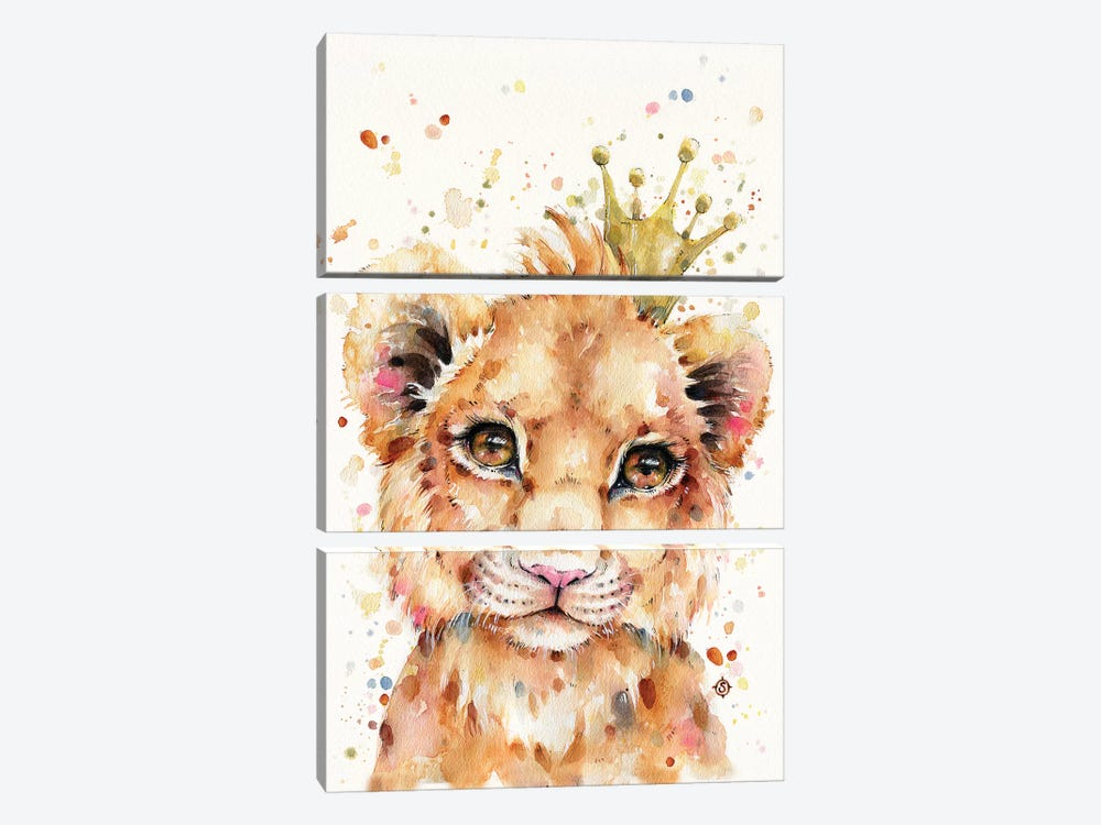 Little Lion by Sillier Than Sally 3-piece Canvas Print