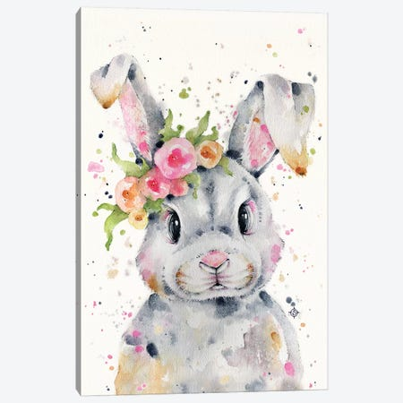 Little Miss Bunny Canvas Print #SIL43} by Sillier Than Sally Canvas Art Print
