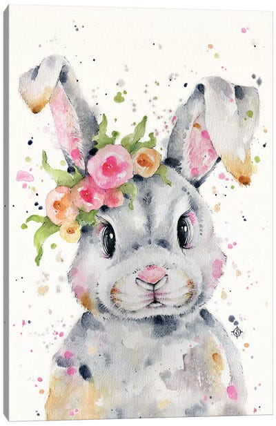Little Miss Bunny Canvas Art Print