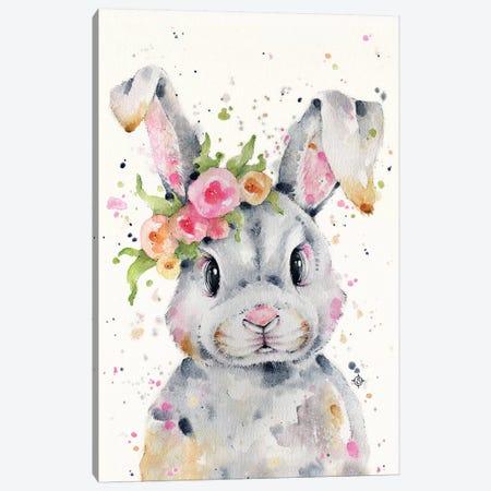 Little Miss Bunny 3-Piece Canvas #SIL43} by Sillier Than Sally Canvas Art Print