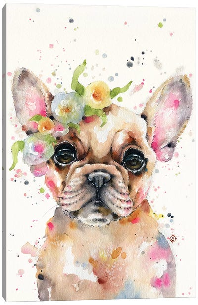 Little Miss Frenchie Canvas Art Print