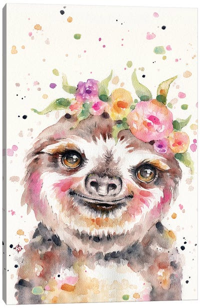 Little Sloth Canvas Art Print