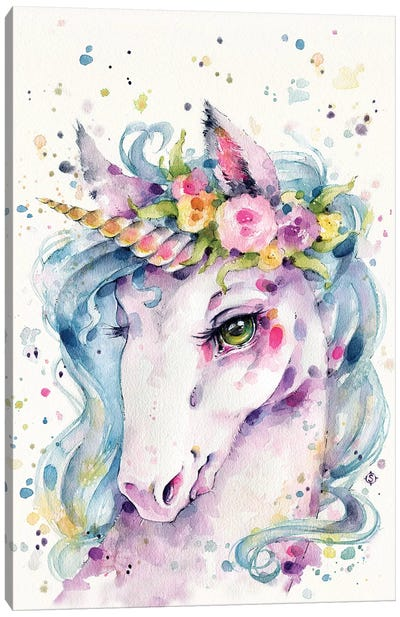 Little Unicorn Canvas Art Print