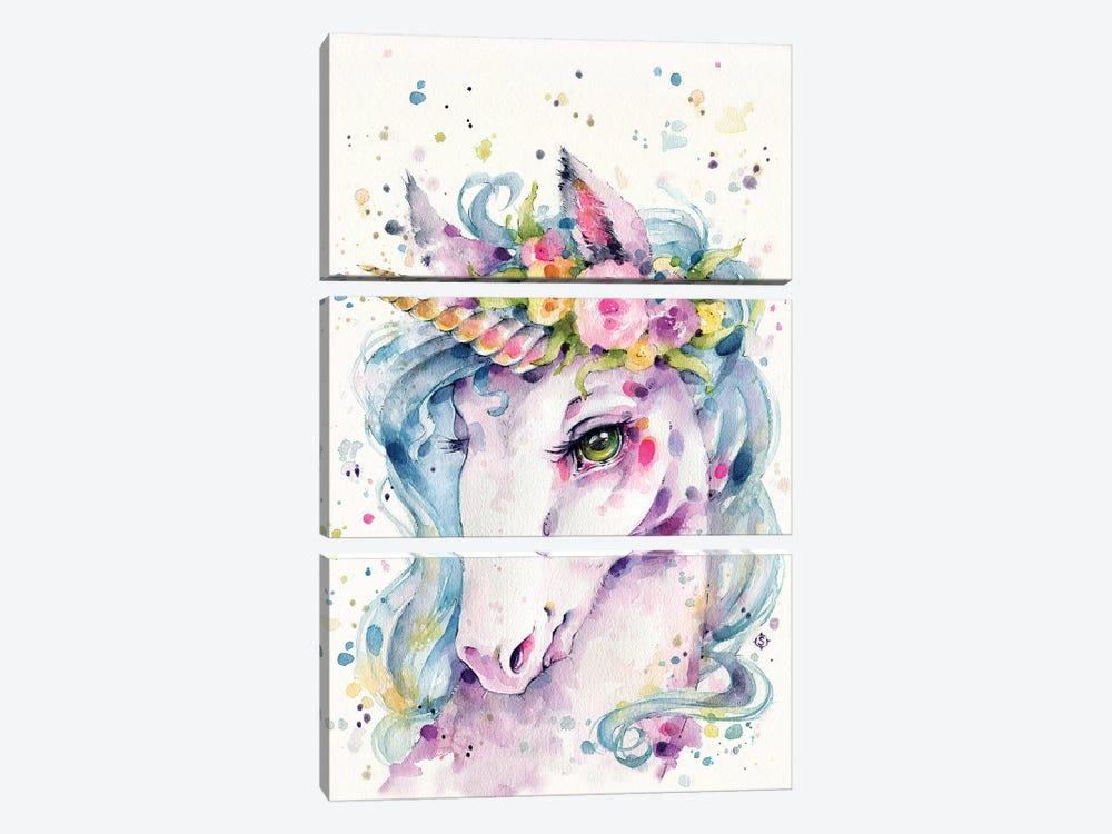 Little Unicorn by Sillier Than Sally 3-piece Canvas Art Print