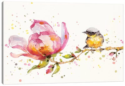 Magnolia & Buddy Canvas Art Print