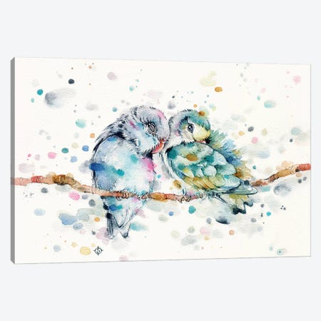 Mr & Mrs Snugglepots Canvas Print #SIL50} by Sillier Than Sally Canvas Art