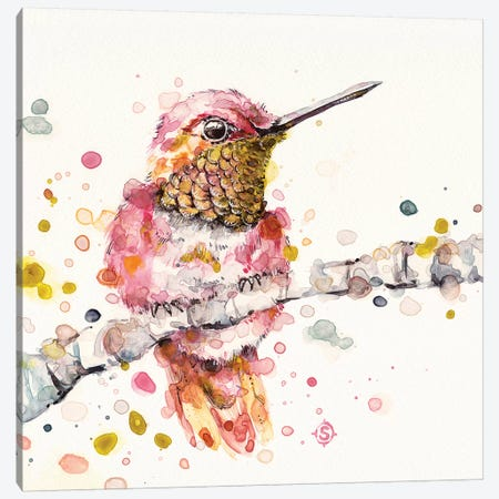 Oh So Fluffy Canvas Print #SIL52} by Sillier Than Sally Canvas Art