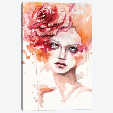 Peaches & Cream Canvas Print #SIL56} by Sillier Than Sally Art Print