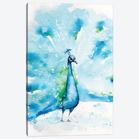 Peacocks About Canvas Print #SIL57} by Sillier Than Sally Canvas Art Print