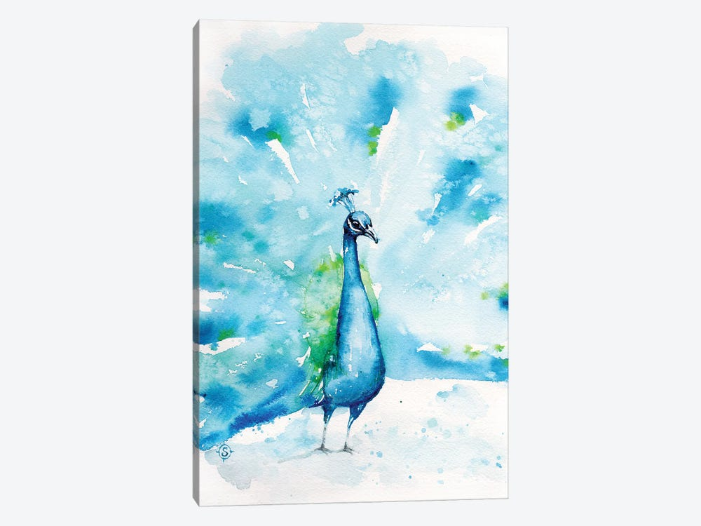 Peacocks About by Sillier Than Sally 1-piece Canvas Print