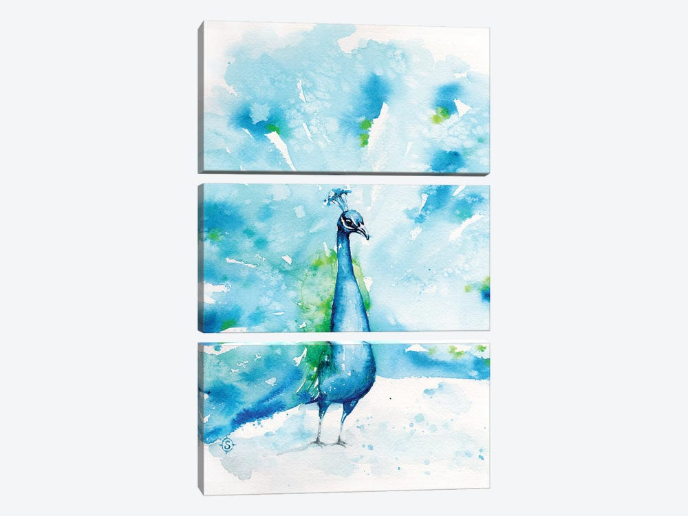 Peacocks About by Sillier Than Sally 3-piece Art Print